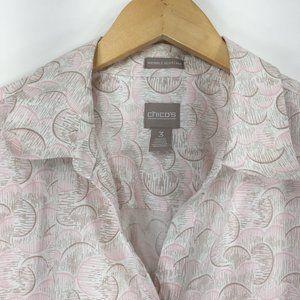 Chicos 3 (XL) Shirt Button Down Blouse
